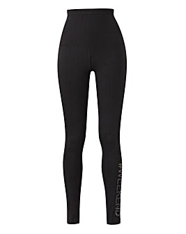 Weekend Black Slogan Legging