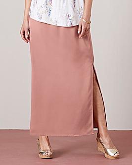 Column Maxi Skirt with Side Split