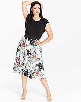Ruffle Sleeve Prom Dress