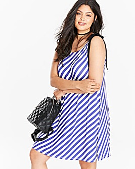 Stripe Tie Cami Dress