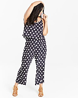 Spot Print Layer Jumpsuit