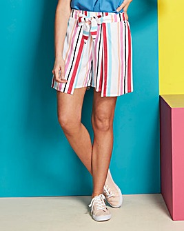 Stripe Wrap Skorts with Knot Front