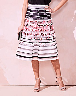 Stripe Prom Skirt