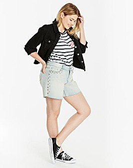 Evie Studded Denim Shorts