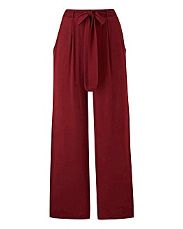 Plain Jersey Wide Leg Trousers Long