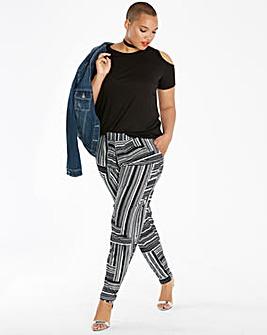 Stripe Jersey Harem Trousers Regular