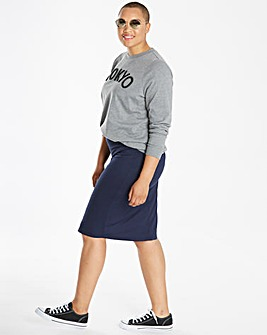 Stretch Jersey Tube Skirt