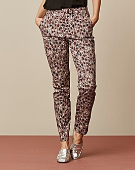 Printed Cotton Sateen Trousers Regular