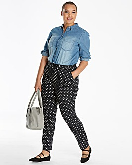 Spot Print Sateen Trousers Regular