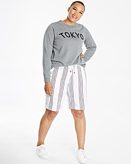 Core Stripe Linen Mix Shorts