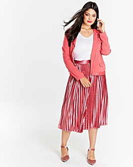 Velour Pleated Skirt