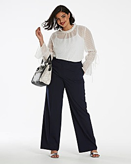 Tailored Wide Leg Trousers Short
