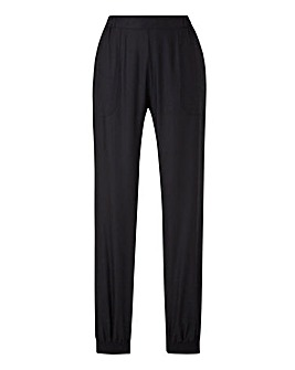 Panel Cuffed Harem Trousers Regular