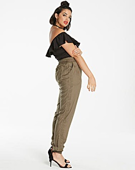 Embroidered Cuffed Harem Trousers Reg