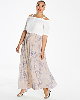 Printed Floaty Maxi Skirt
