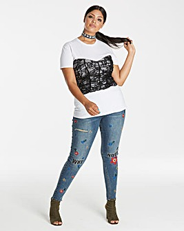 Simply Be Lace Corset Tshirt