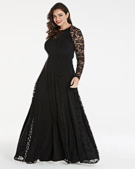 Simply Be by Night Lace Insert Maxi