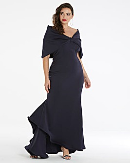 Simply Be by Night Bardot Bow Maxi