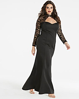 Simply Be by Night High Neck Scuba Maxi