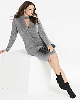 Simply be by Night High Neck Wrap Dress