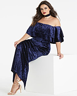 Simply Be by Night Velvet Bardot Maxi