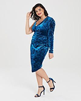 Simply Be Crushed Velvet Wrap Dress
