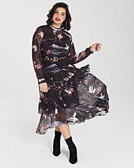Simply Be Oriental Print Dress