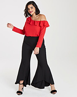 Simply Be Ruffle Hem Trouser