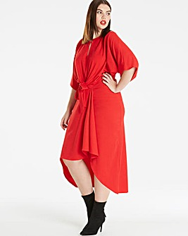 Simply Be Knot Front Dress