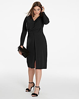 Simply Be By Night Twist Knot Midi Dress