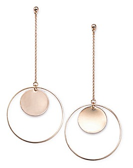 Inner Circle Drop Earrings