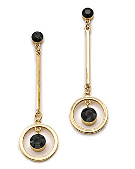 Circle And Bar Drop Earrings