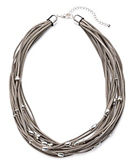 Joanna Hope Grey Cord Necklace