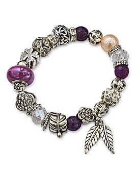 Purple Stretch Charm Bracelet