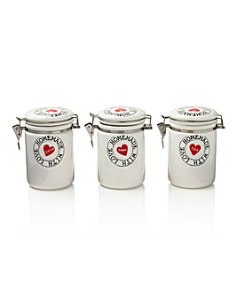Homemade with Love Set of 3 Canisters