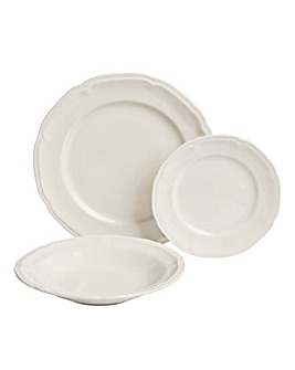 12-Piece Vintage Embossed Dinner Set