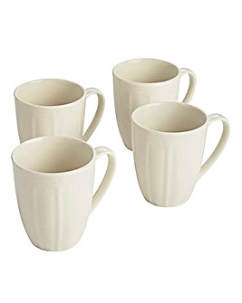 Vintage Embossed Set of 4 Mugs