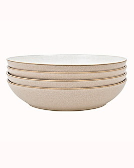 Denby Elements set of 4 Pasta Bowls
