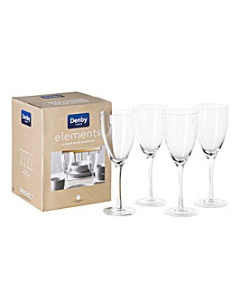 Denby Elements set of 4 Wine Glasses