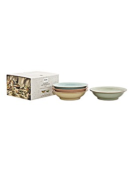 Deli by Denby 4pc Medium Shallow Bowl
