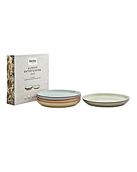 Deli by Denby 4pc Medium Coup Plate