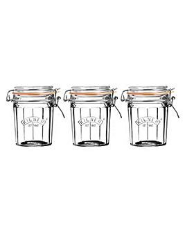 Set 3 Kilner Facet Jars 0.45 Litre