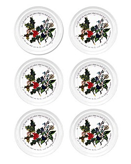 The Holly & The Ivy Tea Plate Set of 6