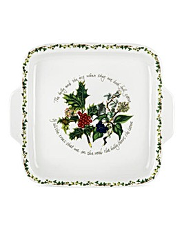 Holly & The Ivy Square Handle Cake Plate