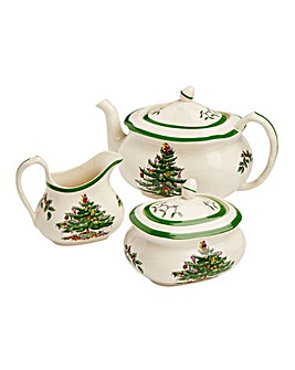 Spode Christmas Tree 3 Piece Tea Set