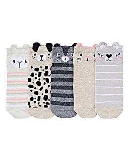 5 Pack Animal Trainer Liner Socks