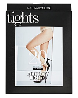 3 Pack 20 Denier Airflow Tights