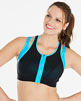 High Impact Layered Zip Front Sports Bra