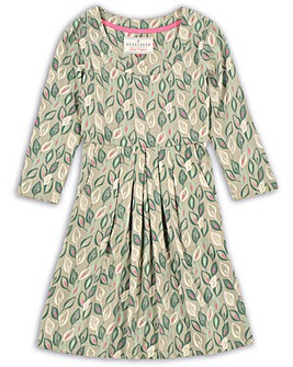 Brakeburn Leaf 3/4 Sleeve Dress