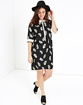 Girls On Film Feather Print Dress